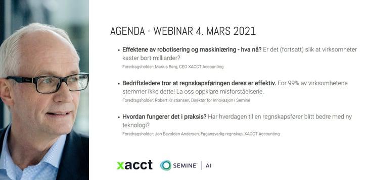 Xacct webinar invitasjon 4 mars